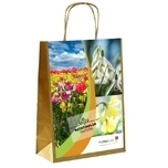 Personalised Printed Bulbs Bags Ranunculus white & pink
